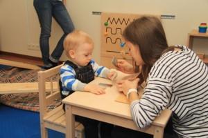 Развивающие занятия для детей в группах «Вместе с мамой»