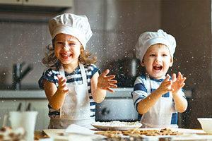Как дети готовят еду